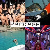 Ibiza boat trip package with topless boat girls / hunks - boat rental Ibiza, hire boat in Ibiza, boat entertainment Ibiza