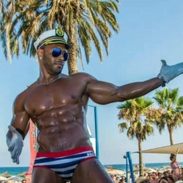 Black Ibiza stripper, male black stripper Ibiza